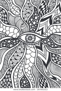 Find Zen Doodle Zen Tangle Texture Pattern stock images in HD and millions of other royalty-free stock photos, illustrations and vectors in the Shutterstock collection. Thousands of new, high-quality pictures added every day. Doodle Zen, Easy Doodle Art, Doodle Art Drawing, Zentangle Drawings, Art Drawings, Zentangles, Easy Doodles Drawings, Doodling Art, Mandala Art