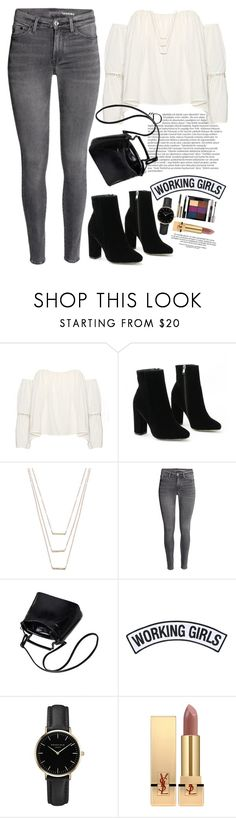 """""""Untitled #736"""" by luhmartins ❤ liked on Polyvore featuring Balmain, ERTH, Working Girls, ROSEFIELD and Yves Saint Laurent"""