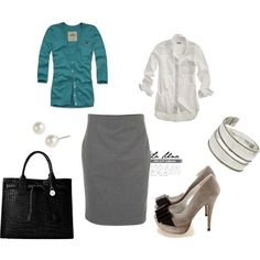 Office Attire, created by ojulia on Polyvore