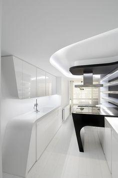 MOMOUSA, cabbagerose: futuristic kitchen design