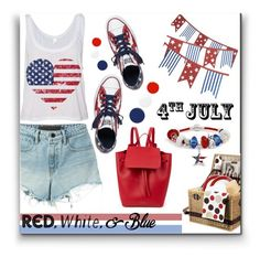 """Get the Look: 4th July"" by schipillitilaura ❤ liked on Polyvore featuring T By Alexander Wang, Crate and Barrel, Converse, Picnic Time, Bling Jewelry, Mansur Gavriel, RGB Cosmetics, Christian Louboutin and Essie"