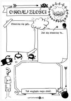 O mojej złości - Printoteka.pl Pre School, Back To School, Polish Language, Class Meetings, Study Skills, Home Schooling, Homeschool, Motivational Quotes, Teacher