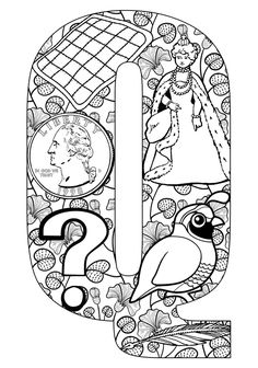 things that start with q free printable coloring pages - Printable Coloring Letters