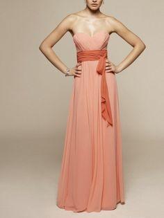 Chiffon Sweetheart Bridesmaid Gown A Line Empire Bridesmaid Dress