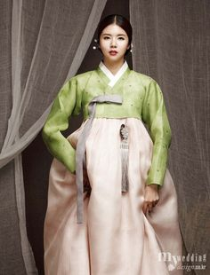Hanbok Design by Bidan Bim Korean Traditional Clothes, Traditional Fashion, Traditional Dresses, Korean Hanbok, Korean Dress, Korean Outfits, Korea Fashion, Asian Fashion, Korean Women