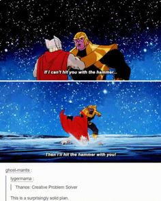 Thanos is a genius via /r/funny...
