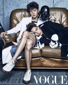 151118  SEHUN AND KAI EXO @ VOGUE MAGAZINE UPDATE