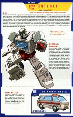 Transformers Universe - Gallery: G1 Ratchet: