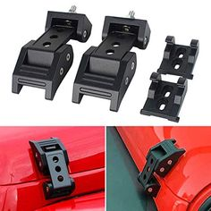 MAIKER Jeep Unlimited JK Hood Latch Locking Hood Catch Kit for JK Wrangler 2007-2017 1 Pair