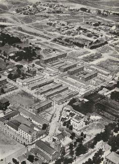 Bloque de viviendas construidos en la Barriada de Pueblo Nuevo, 1954