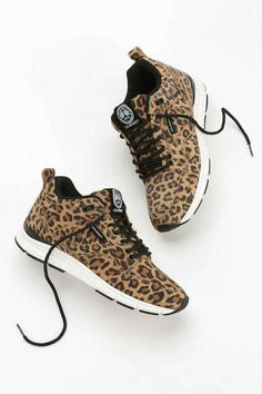 Gourmet Animal Print Suede Running Sneaker at Urban Outfitters shoes -  cool