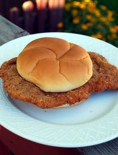 On a number of the cooking sites and forums I belong to, the topic often comes up about great local and regional sandwiches. Sandwiches that always get. Pork Chop Sandwiches, Pork Sandwich, Sandwich Recipes, Pork Recipes, Cooking Recipes, Sandwich Board, Cooking Ideas, Breaded Pork Tenderloin, Pork Tenderloin Sandwich