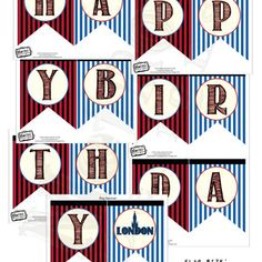 London Birthday Banner, Teen Party Banner, City Banner, London Party Bunting