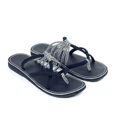 9baf48ee6 High Quality Women Summer Knitted Fabric Flip Flops Cute Beach Slippe -  gifthershoes Blue Heels