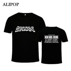 ALIPOP KPOP Corea Moda K-POP IKON NUEVO Álbum de LOS NIÑOS COMIENZAN Concierto Camiseta De Algodón Camisetas Camisetas PT490 | 32815556476_th