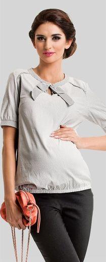Daisy summer black squares pattern maternity shirt