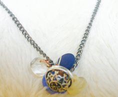 Blue Vintage Bead Necklace by NeverDoubtDesigns on Etsy