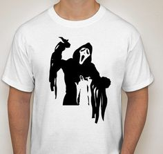 Movie Maniacs: Ghost from Scream Silhouette T-Shirt by DJsDecals on Etsy