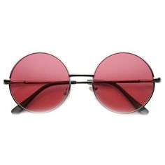 ddf157d5cf Silver Red Round Lens Sunglasses