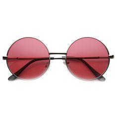 fefdffd487 Silver Red Round Lens Sunglasses