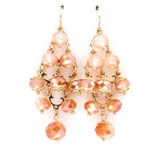 Crystal Bea Earrings in Warm Vitrail on Emma Stine Limited