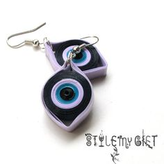Evil Eye Paper Quilled Earrings by StyleMyGift on Etsy, $8.00