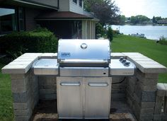 Backyard Bbq Grill Design Barbecue 54 New Ideas Outdoor Kitchen Kits, Backyard Kitchen, Outdoor Kitchen Design, Backyard Bbq, Kitchen Brick, Patio Grill, Grill Area, Bbq Grill, Bbq Area