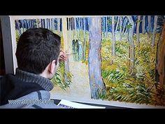 van Gogh - Undergrowth with Two Figures | Art Reproduction Oil Painting | Art Van Gogh + Tutorials | Pinterest