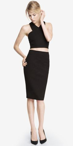 Pencil Skirt + Cropped Top from Express http://www.express.com/clothing/women/sec/womenCategory