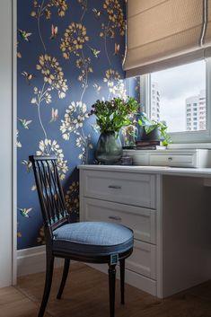 Neutral interior palette of blue bedroom apartment Interior Design, House Interior, Apartment Bedroom Design, Home, Interior Design Living Room, Interior, Bedroom Design, Home Office Decor, Blue Home Decor
