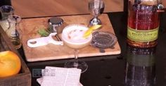 Stache:  2 oz rye or bourbon; .5 St. George Spirits Spiced Pear Liqueur; 1 oz lemon; .75 cinnamon honey syrup; egg white; drop Angostura bitters on top as garnish.  Dry shake; up.