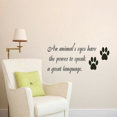 Wall Decal Quote Vinyl Sticker Decal Art Home Decor Mural Decals Quotes An Animals Eyes Have The Trace Cat Pet-Shop Dear Buyers, Welcome to our