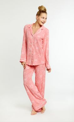 Montana Blush Classic Stretch PJ Set   www.customboutiques.com Beach Cover Ups, Bed Head, Pj Sets, Montana, Peplum Dress, Womens Fashion, Fashion Trends, Pajamas, Blush