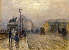 Rue de Paris with Carriages - Giuseppe De Nittis