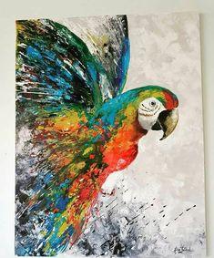 Oil Pastel Paintings, Pastel Art, Animal Paintings, Mini Canvas Art, Bird Artwork, Zen Art, Cool Art Drawings, Stencil Painting, Whimsical Art