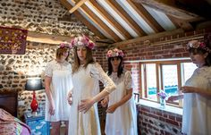 Lace Sleeve Halfpenny London Dress Gown Bride Bridal Quirky Natural Outdoor Festival Wedding http://lighteningphotography.co.uk/