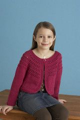 Free Knitting Pattern from Lion Brand Yarn LionBrand® Cotton-Ease® Fresh-Picked Color Cardigan Pattern Size: S (M, L) yrs yrs, yrs) Knitting For Kids, Easy Knitting, Crochet For Kids, Knitting Patterns Free, Knit Patterns, Crochet Baby, Knit Crochet, Free Pattern, Easy Crochet
