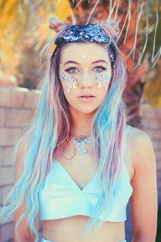 Jessie Paege Coachella look Coachella Looks, Coachella 2018, Jessie Paege, Pink Hair, Pastel Hair, Dyed Hair, Hair Inspiration, Just In Case, Makeup Looks