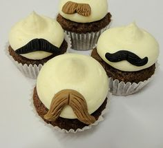 The Extraordinary Art of Cake: Buttercream Bakery Movember Mini Moustache Cupcakes Moustache Cupcakes, Moustache Party, Buttercream Bakery, Love Cupcakes, Dessert For Dinner, Cute Cakes, Let Them Eat Cake, Cupcake Cakes, Cupcake Ideas