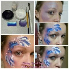 Dolphin eye design face painting