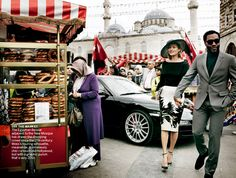 Kate Moss in 'The Silk Road' for Vogue US December 2013