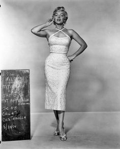 Marilyn in a cosume test for 'The Seven Year Itch'