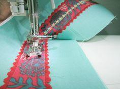 Using decorative machine stitches for a fun belt!