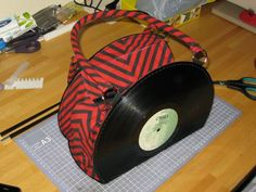 Schallplattenhandtasche