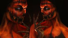 Pumpkin/Halloween Queen Makeup Tutorial