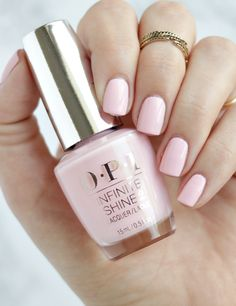 I know what you might be thinking... another pastel pink?? I'm still searching for the one, and had really high hopes for OPI Pretty Pink Preserves.
