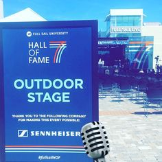Getting all set up for the Music Festival #FullSailHOF #mcbsHOF7