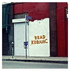 Reading graffiti.
