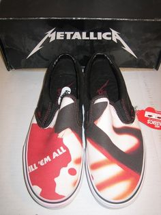 cc30a41be1 METALLICA KILL EM ALL VANS US 7.5 ANTHRAX SLAYER MEGADETH PANTERA SLIP ON  LOW  VANS  AthleticShoes