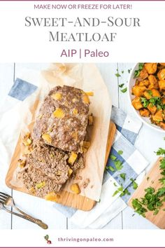 Not sure what to make for dinner? This sweet-and-sour AIP meatloaf is easy! You can make one now and freeze one for later without cooking! I show you how in this post with the recipe and video. (Also Paleo) Best Paleo Recipes, Dairy Free Recipes, Meat Recipes, Real Food Recipes, Supper Recipes, Gluten Free, Balsamic Pot Roast, Fitness Models